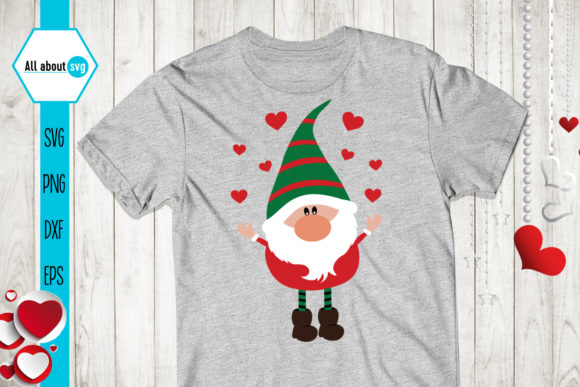 Valentines Gnomies Bundle Svg, Gnome Svg Graphic Crafts By All About Svg - Image 3