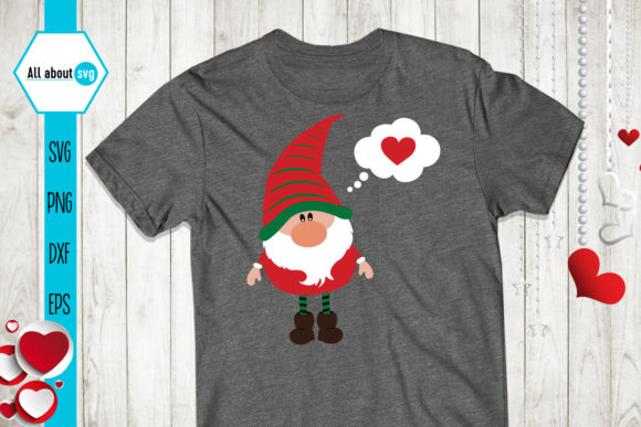 Valentines Gnomies Bundle Svg, Gnome Svg Graphic Crafts By All About Svg - Image 4