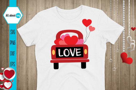 Valentines Truck Svg, Love Truck Svg Graphic Crafts By All About Svg - Image 2