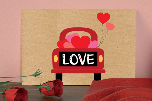 Valentines Truck Svg, Love Truck Svg Graphic Crafts By All About Svg - Image 5