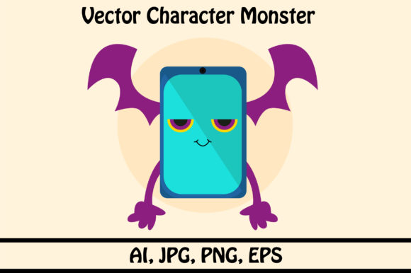 Download Free Vector Character Monsters Graphic By Rafcreative3 Creative Fabrica for Cricut Explore, Silhouette and other cutting machines.