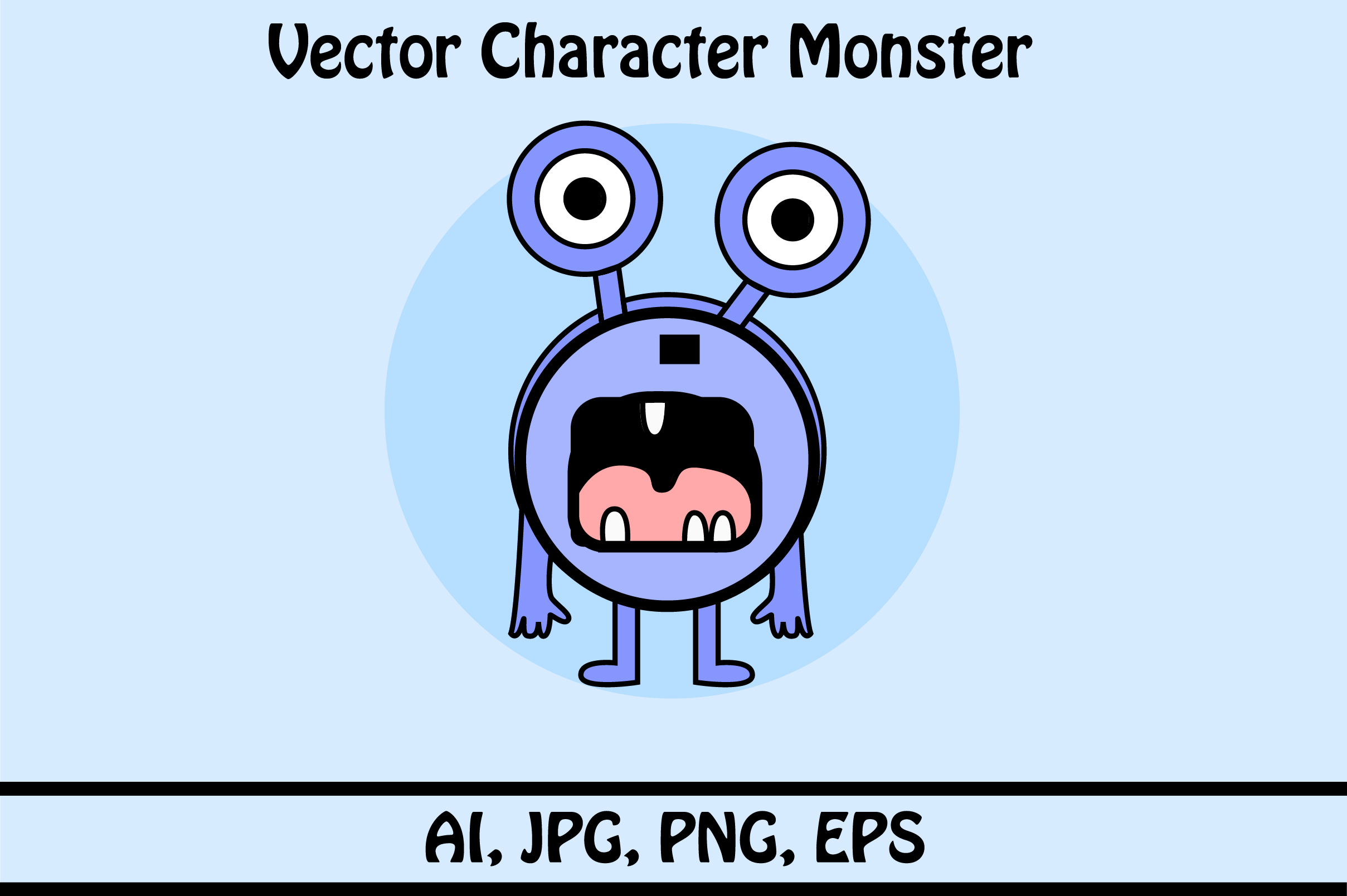 Download Free Vector Character Monster Graphic By Rafcreative3 Creative Fabrica for Cricut Explore, Silhouette and other cutting machines.
