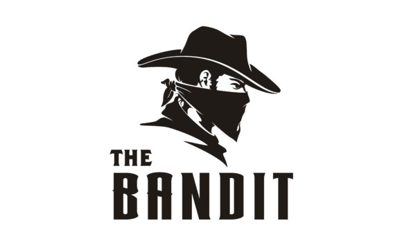 Download Free Western Bandit Wild West Cowboy Logo Graphic By Enola99d for Cricut Explore, Silhouette and other cutting machines.