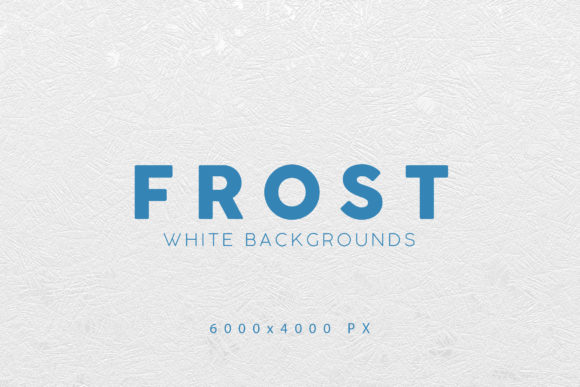 Print on Demand: White Frost Winter Backgrounds Gráfico Fondos Por ArtistMef