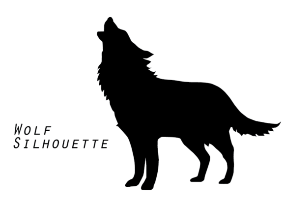 Download Free Wolf Silhouette Graphic By Evand Creative Fabrica for Cricut Explore, Silhouette and other cutting machines.