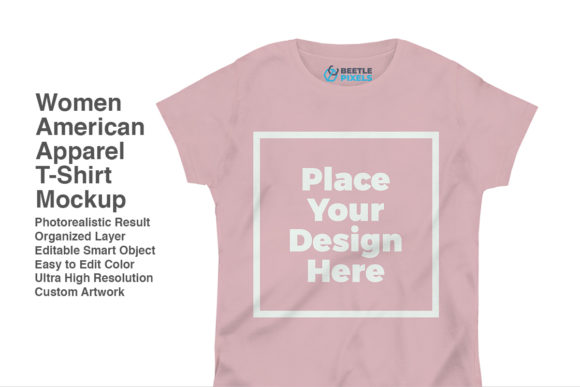 Print on Demand: Women-American-Apparel Mockup Graphic Product Mockups By svgsupply
