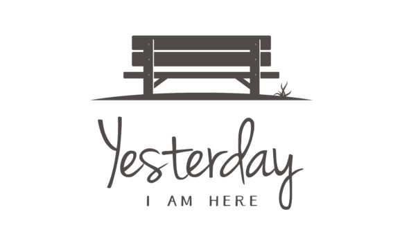 Download Free Wooden Bench Silhouette In Park Logo Graphic By Enola99d Creative Fabrica for Cricut Explore, Silhouette and other cutting machines.