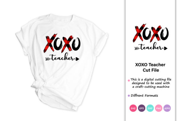 Print on Demand: Xoxo Plaid Heart , Valentine's Day Svg Graphic Crafts By iprintasty