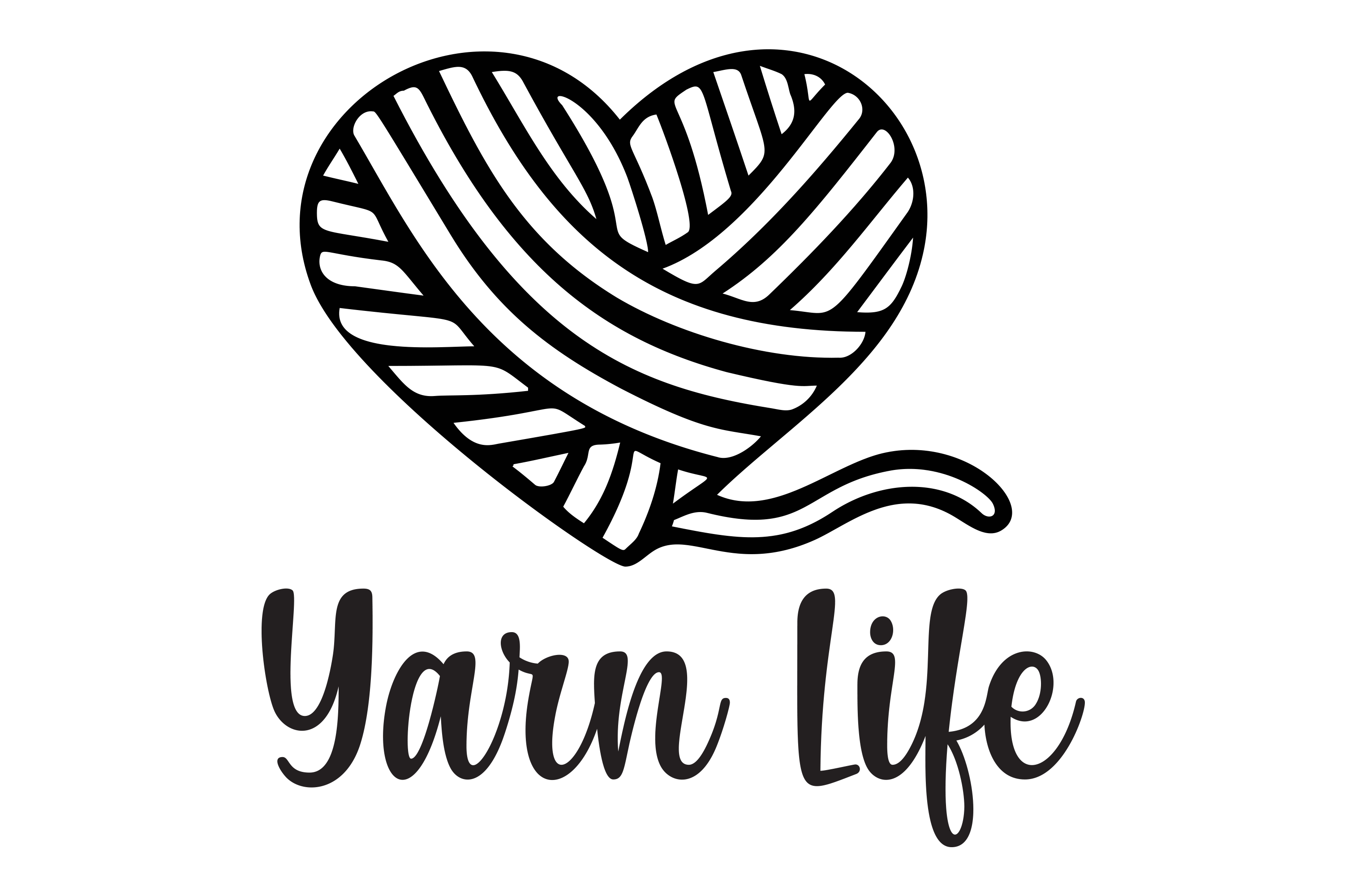 Download Free Yarn Life Knit Crochet Svg Heart Yarn Graphic By Am Digital for Cricut Explore, Silhouette and other cutting machines.