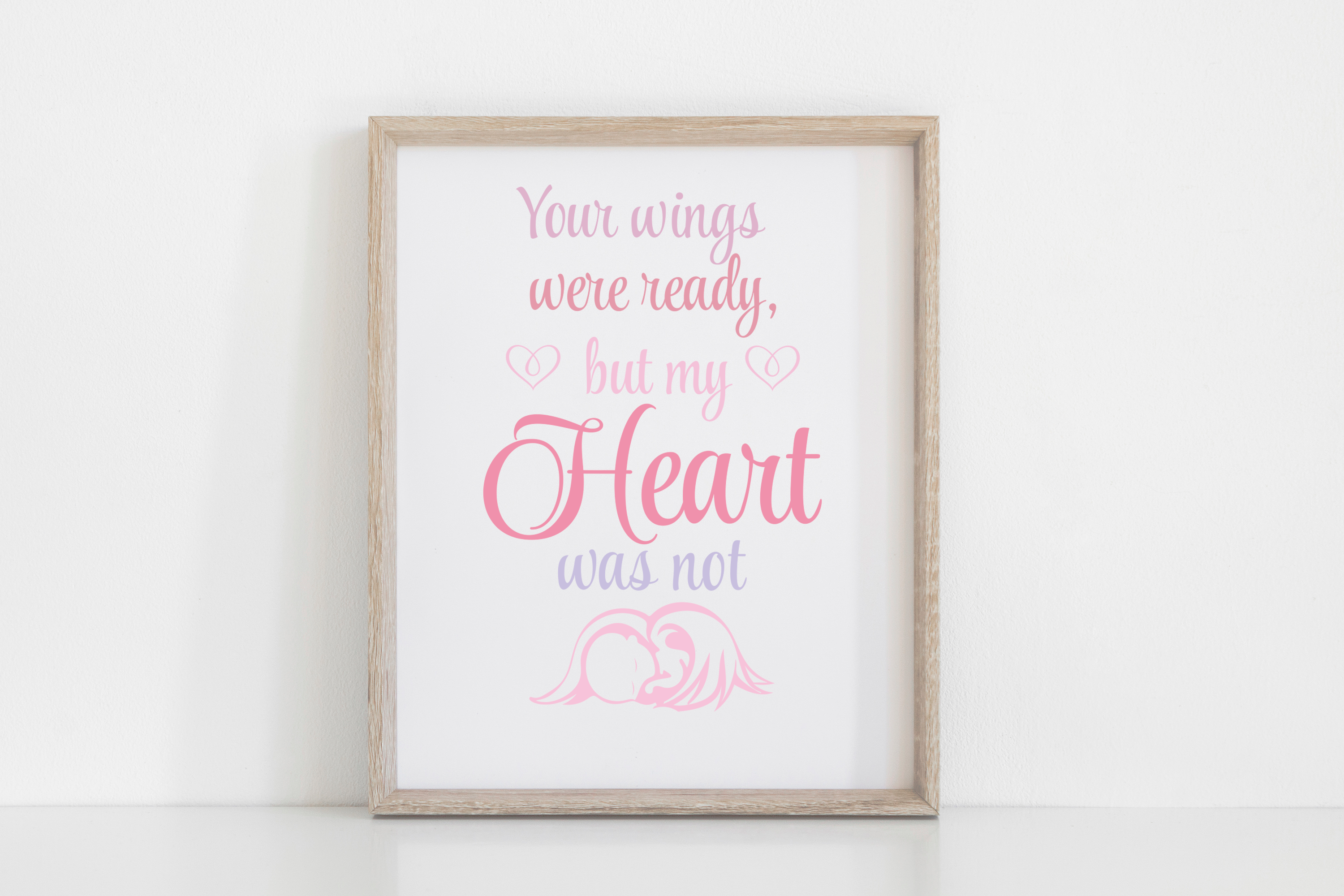 Download Free Your Wings Were Ready Angel Quote Svg Graphic By Am Digital for Cricut Explore, Silhouette and other cutting machines.