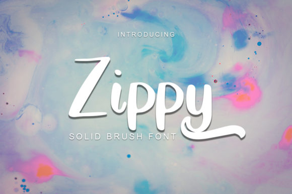 Print on Demand: Zippy Display Font By Green Adventure Studio
