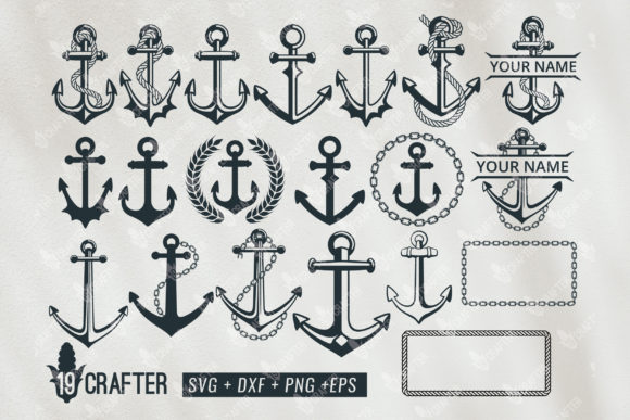 Print on Demand: Anchor Ship Bundle Graphic Crafts By great19