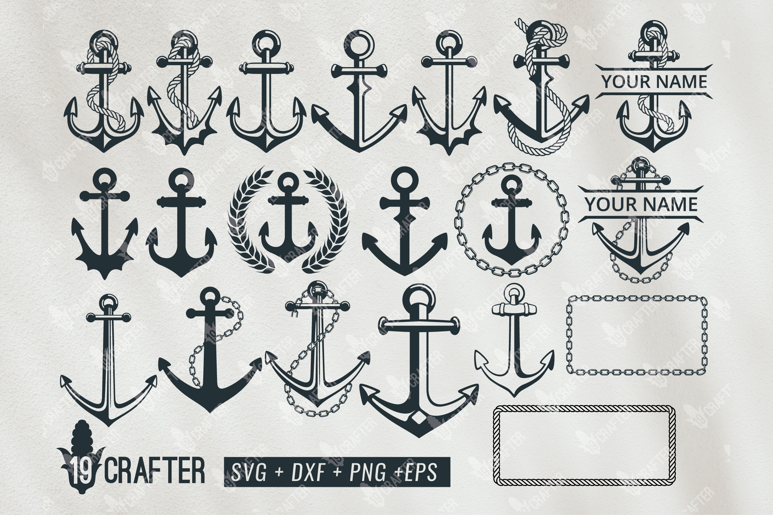 Download Free Anchor Ship Svg Bundle Graphic By Great19 Creative Fabrica for Cricut Explore, Silhouette and other cutting machines.