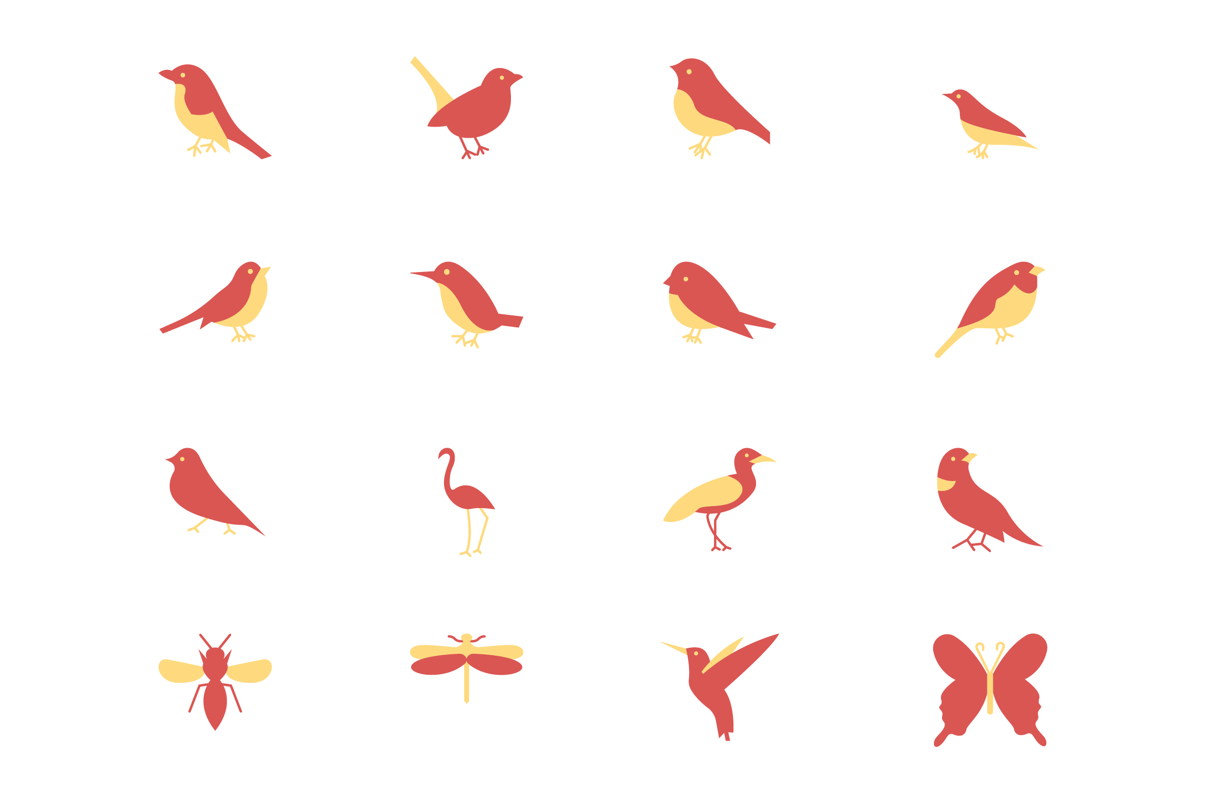 Download Free Bird Colorful Icon Set Vector Graphic By Riduwan Molla for Cricut Explore, Silhouette and other cutting machines.