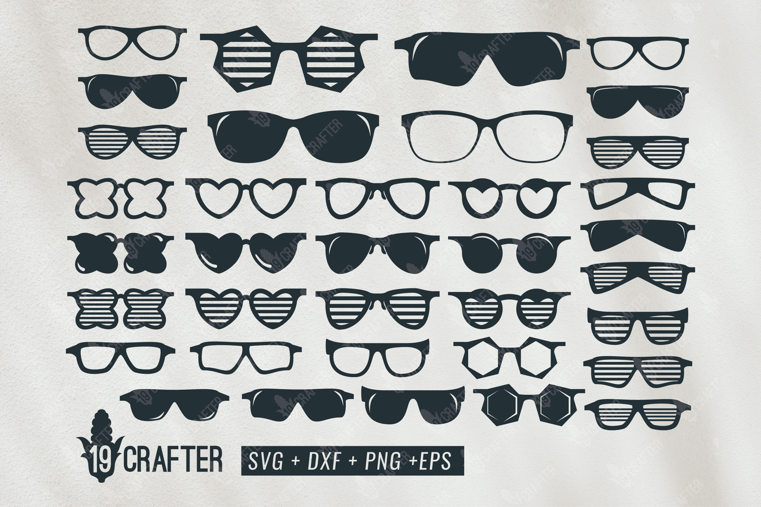 Cool Glasses Big Bundle Graphic By Great19 Creative Fabrica