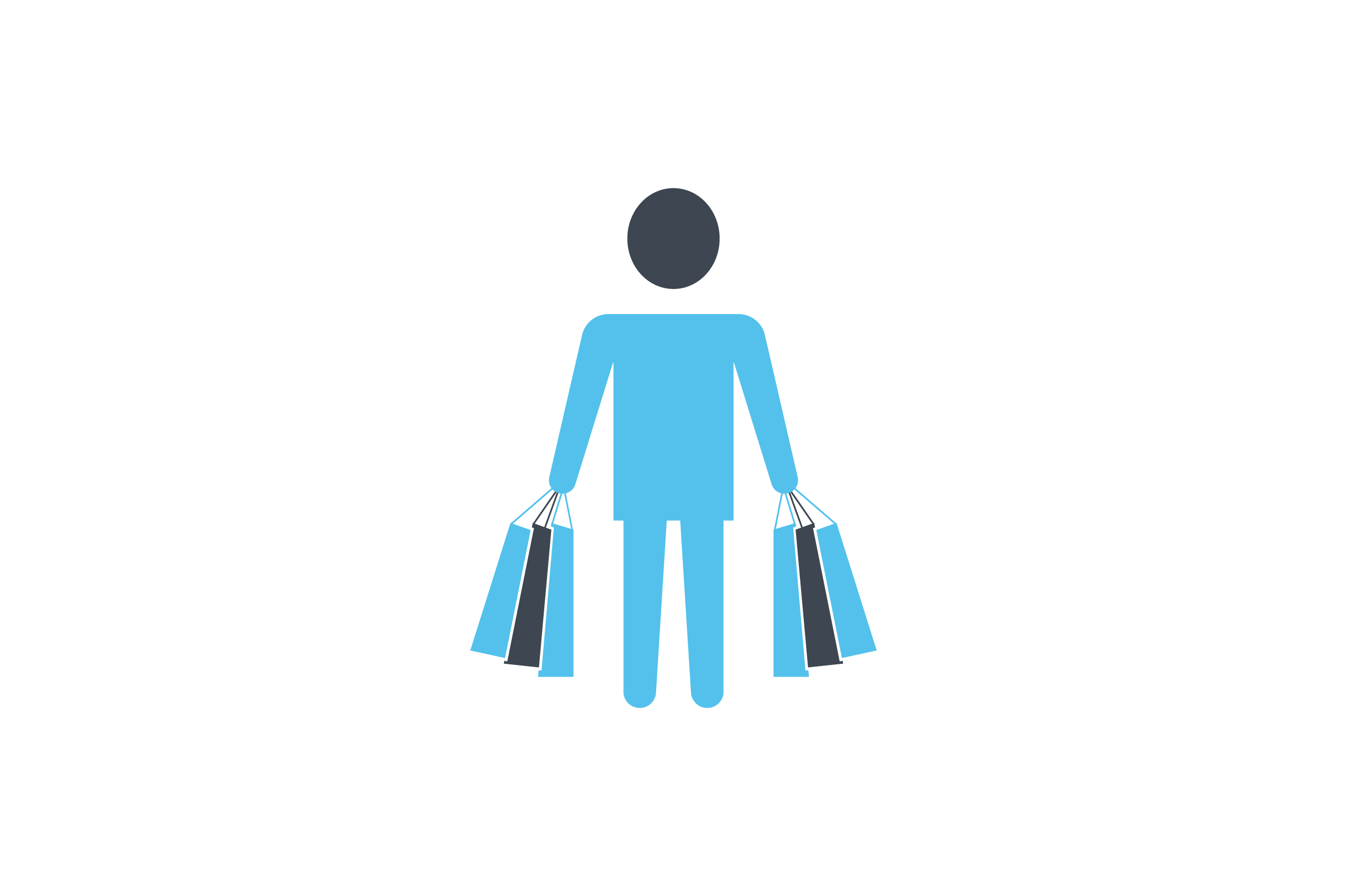 Download Free Male With Shopping Bag Flat Icon Vector Graphic By Riduwan Molla for Cricut Explore, Silhouette and other cutting machines.