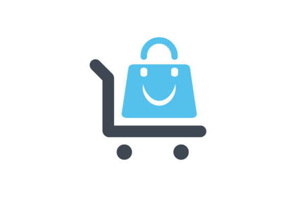 Download Free Shopping Bag And Trolly Flat Icon Vector Graphic By Riduwan for Cricut Explore, Silhouette and other cutting machines.