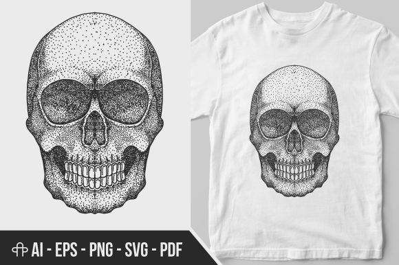 Print on Demand: Skull Dotwork Illustration Graphic Illustrations By Andypp
