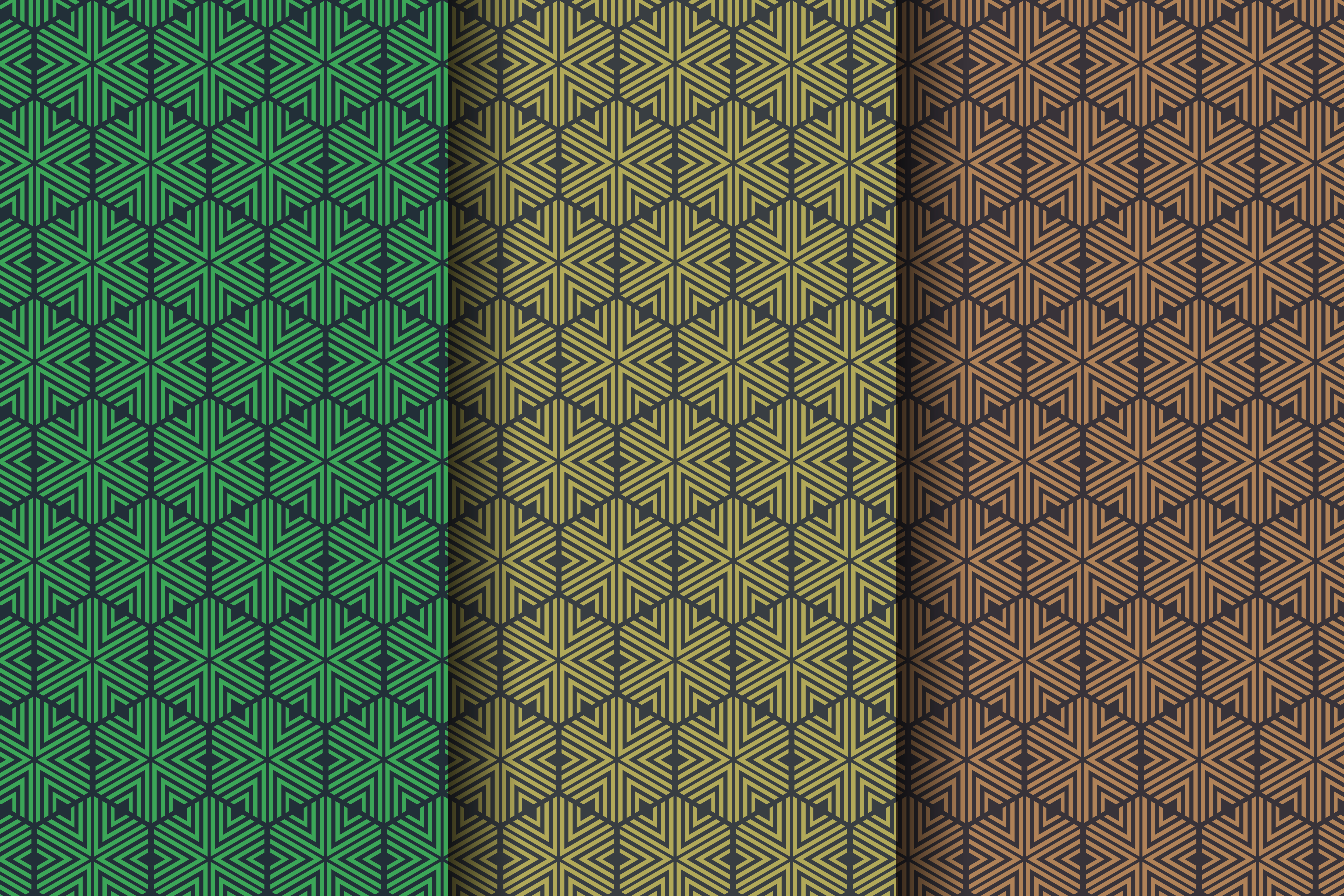 Download Free Triangle Hexagon Pattern Flat Dark Color Graphic By Noory for Cricut Explore, Silhouette and other cutting machines.