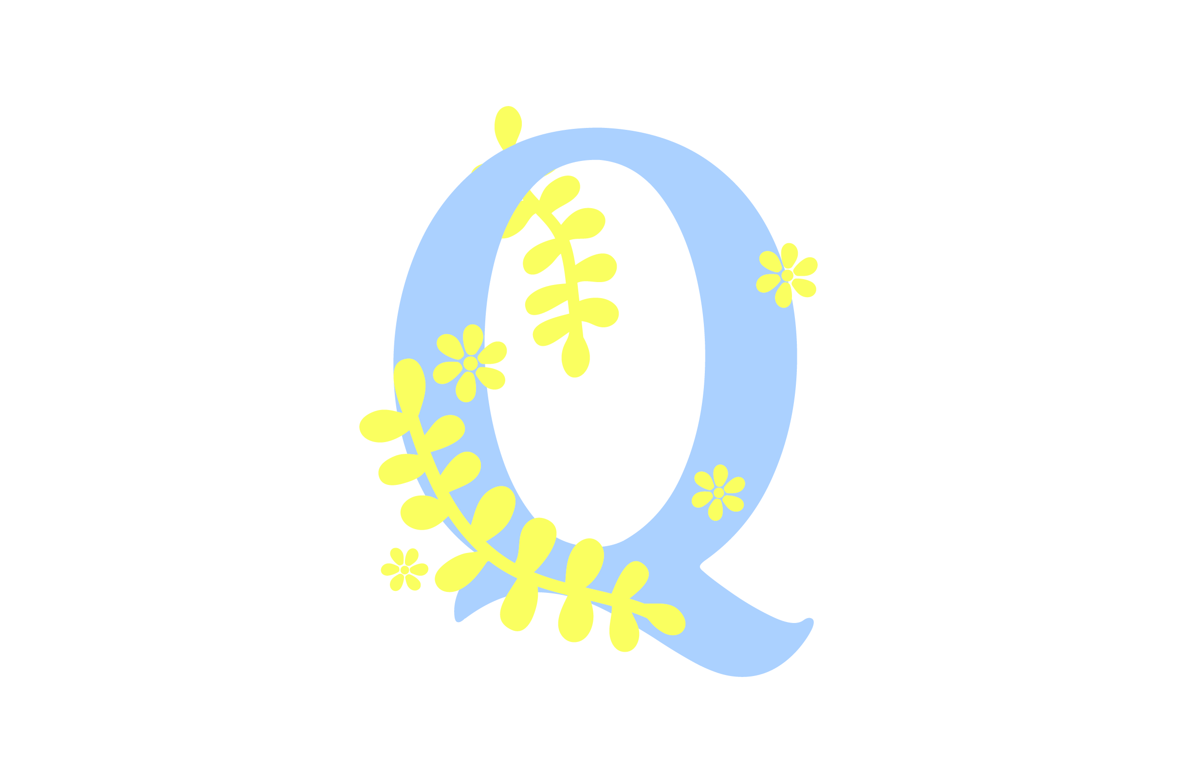 Download Free Floral Alphabet Q Svg Cut File By Creative Fabrica Crafts for Cricut Explore, Silhouette and other cutting machines.