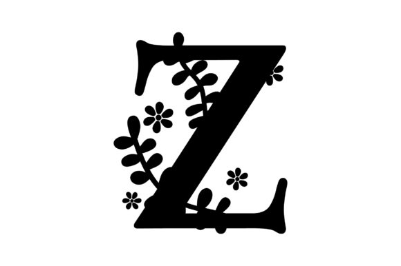 Download Free Floral Alphabet Z Svg Cut File By Creative Fabrica Crafts for Cricut Explore, Silhouette and other cutting machines.