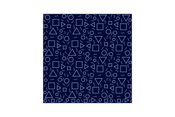 Navy Blue & Silver Geometric Pattern Designs & Drawings Craft Cut File By Creative Fabrica Crafts
