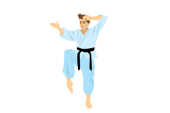Man Doing Karate Sports Craft Cut File By Creative Fabrica Crafts