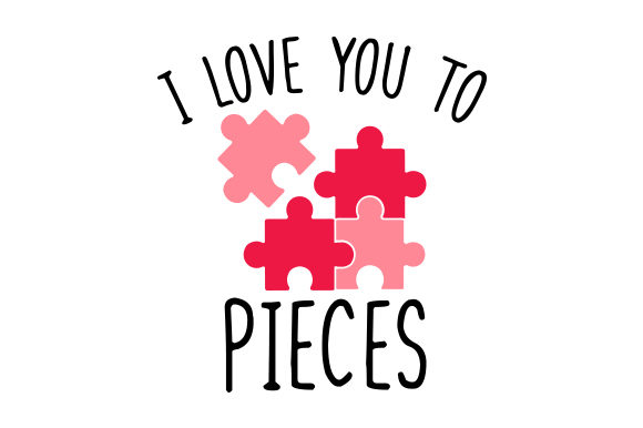 I Love You to Pieces San Valentín Archivo de Corte Craft Por Creative Fabrica Crafts