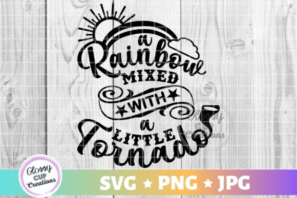 Download Free A Rainbow Mixed With A Little Tornado Graphic By Suzannecornejo for Cricut Explore, Silhouette and other cutting machines.