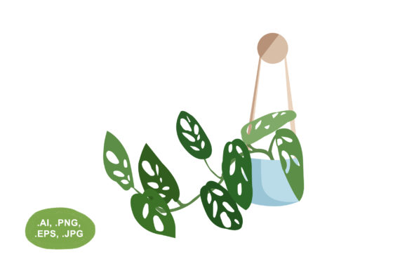 Download Free Adansonii Plant Vector Illustration Graphic By Salfiart SVG Cut Files