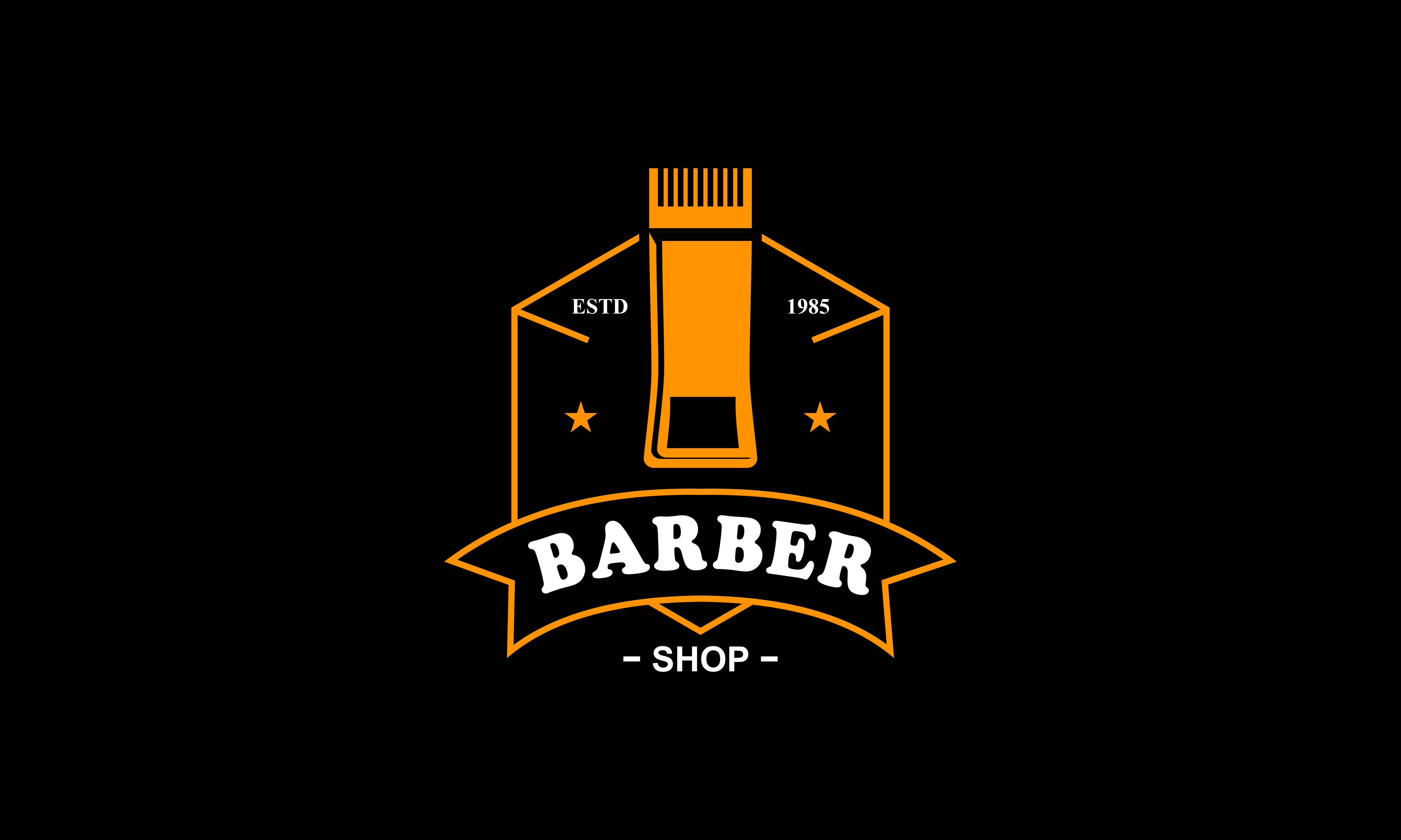Download Free Barber Shop Vector Vintage Logo Label Graphic By Deemka Studio for Cricut Explore, Silhouette and other cutting machines.