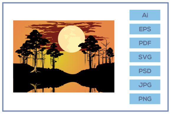 Print on Demand: Bayou Swamp Theme Landscape Design Graphic Backgrounds By leamsign