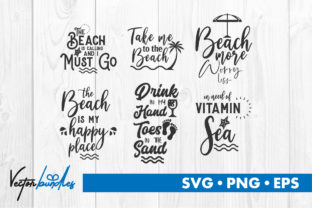 Beach Quote Cut File Graphic Crafts By vectorbundles