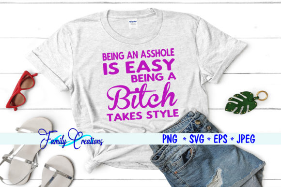 Being an Asshole is Easy.. Gráfico Crafts Por Family Creations