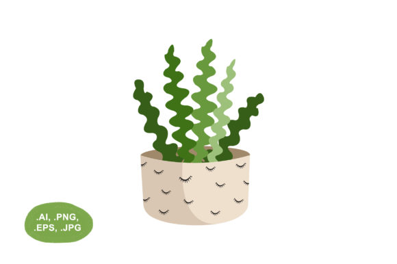 Download Free Botanical Fishbone Cactus Illustration Graphic By Salfiart for Cricut Explore, Silhouette and other cutting machines.