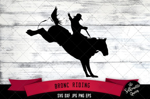Download Free Bronc Riding Rodeo Svg Cowboy Svg Graphic By for Cricut Explore, Silhouette and other cutting machines.