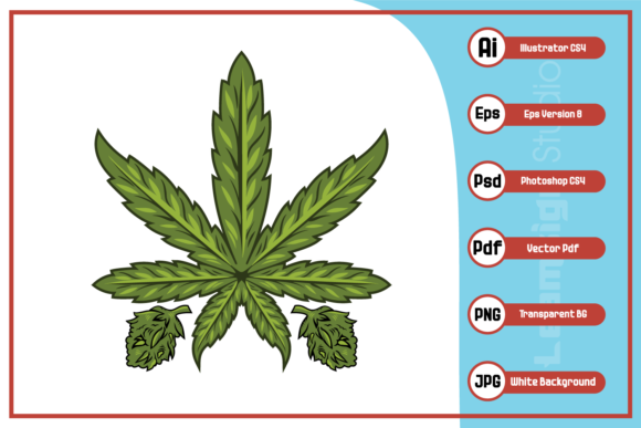 Print on Demand: Cannabis Marijuana Leaf Illustration Graphic Illustrations By leamsign