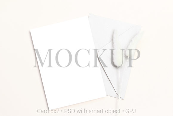 Print on Demand: Card Mockup with Envelope Graphic Product Mockups By PawMockup