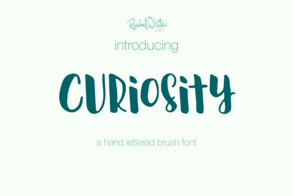 Print on Demand: Curiosity Script & Handwritten Font By rachelwhiteart