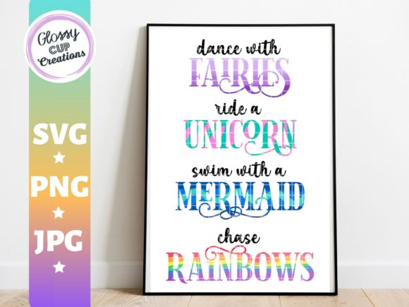Download Free Dance With Fairies Unicorn Mermaid Graphic By Suzannecornejo SVG Cut Files