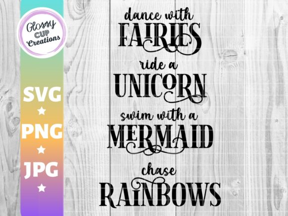 Print on Demand: Dance with Fairies, Unicorn, Mermaid Graphic Crafts By suzannecornejo - Image 2