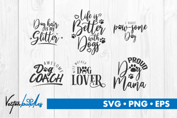Print on Demand: Dog Quote Svg Cut File Grafik Designvorlagen von vectorbundles