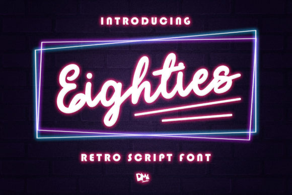 Print on Demand: Eighties Script & Handwritten Font By dmletter31