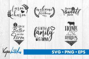 Download Free Farm Quote Cut File Graphic By Vectorbundles Creative Fabrica for Cricut Explore, Silhouette and other cutting machines.
