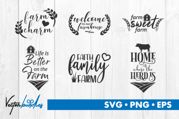 Print on Demand: Farm Quote Svg Cut File Graphic Crafts By vectorbundles
