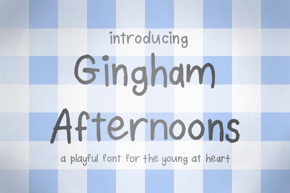Print on Demand: Gingham Afternoons Script & Handwritten Font By jessicadarnell14