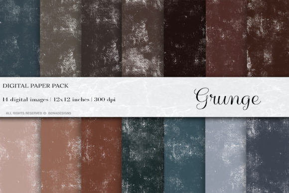 Grunge Digital Papers, Grunge Texture Graphic Backgrounds By damlaakderes