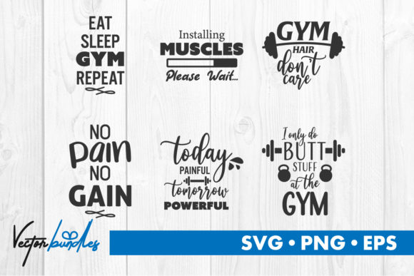 Print on Demand: Gym Quote Svg Cut File Graphic Crafts By vectorbundles
