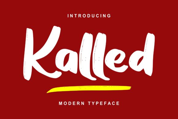 Print on Demand: Kalled Script & Handwritten Font By Vunira