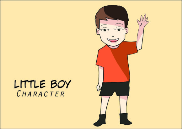 Download Free Little Boy Cartoon Character Vector Art Graphic By Evand for Cricut Explore, Silhouette and other cutting machines.